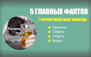 Почему люди пьют алкоголь + 5 главных фактов и видео