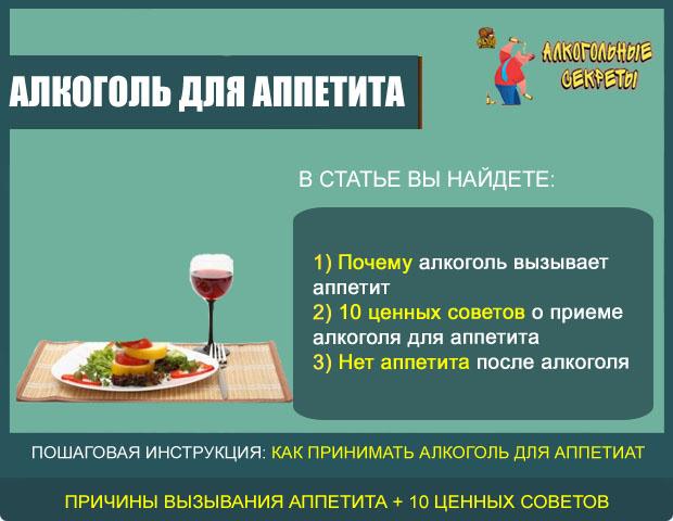 Алкоголь для аппетита