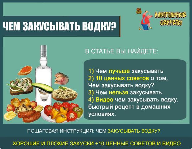 Чем закусывать водку?