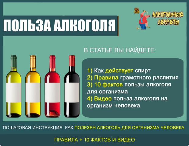 Польза алкоголя на организм человека